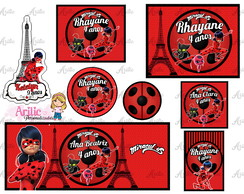 Kit festa arte digital LadyBug (Miraculous)