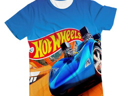 Camiseta Infantil Hot Wells Azul MC