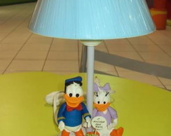 Abajur Disney - Pato Donald e Margarida
