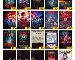 10 Placas Decorativas Serie Stranger Things Netflix