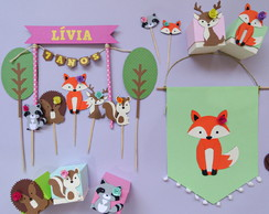 Kit Animais do Bosque - Papelaria para Festa