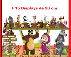 Display masha eo urso displays de mesa
