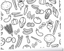 Papel De Parede Cozinha Verduras Legumes Comida Saudavel A92 No