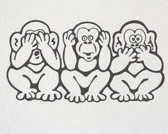 Macacos Cego Surdo e Mudo | Elo7