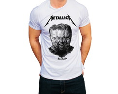 Camiseta Camisa Banda de Rock Metallica James Hetfield