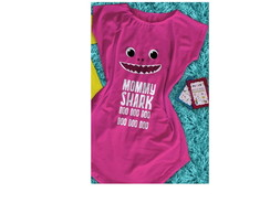 Vestido Adulto Mommy Shark