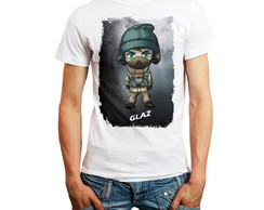Camiseta Rainbow Six Siege Personagem Glaz Camisa Rainbow6