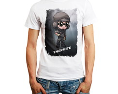 Camiseta Rainbow Six Personagem Thermite Camisa Rainbow6