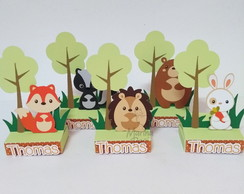 Porta chocolate Animais do Bosque verdinho