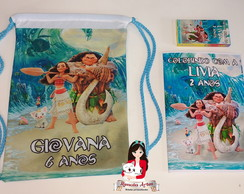 Kit colorir na mochila Moana