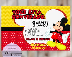 Convite Mickey Mouse digital