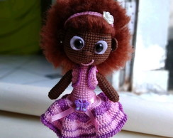 Boneca Black power amigurumi croche
