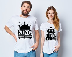 Kit Camiseta Casal King e Queen