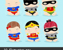 Kit Digital Super Herois baby para imprimir