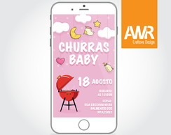 Convite Virtual -Churras Baby