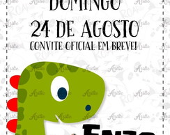 Save the date Dinossauro cute