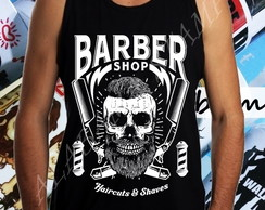 Regata Masculina Barber shop Profissoes Caveira