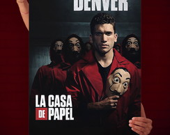 Quadro Decorativo La Casa de Papel Denver - 30x45