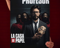 Quadro Decorativo La Casa de Papel Professor- 30x45