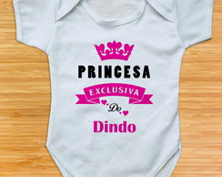 body de bebe princesa exclusiva do dindo