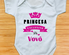 body para bebe princesa exclusiva do vovô