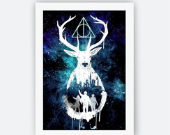 Quadro Decorativo Poster Com Moldura Harry Potter Cervo