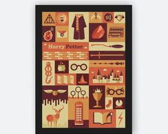 Quadro Decorativo Poster com Moldura Harry Potter Decor
