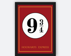 Quadro Decorativo Poster Harry Potter - plataforma hogwarts