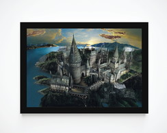Quadro Decorativo Poster Harry Potter - Hogwarts 2