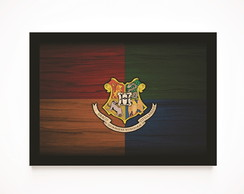 Quadro Decorativo Poster Harry Potter - Símbolo Hogwarts
