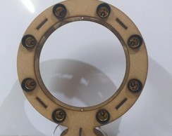 Ring Light 100% Mdf Cru -08 Lâmpadas Corte Laser