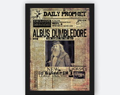 Quadro Decorativo Com Moldura Harry Potter Dumbledore Casa