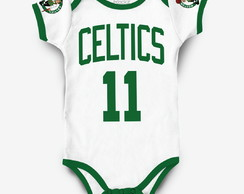 Body Boston Celtics Basquete Bebe NBA personalizado c/ nome
