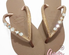 CHinelo decorado | Havaianas Slim Rose Gold Delicado