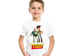 CAMISETA INFANTIL PERSONALIZADA TOY STORY WOODY + NOME