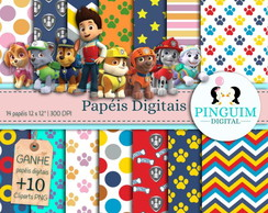Kit Papel Digital - Patrulha Canina - Paw Patrol