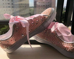 ALL STAR CUSTOMIZADO ROSA