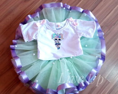 Tutu Lol unicórnio + body bordado Infantil