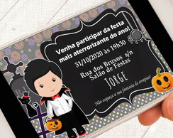 Convite Digital Halloween Vampiro