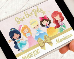 Convite Digital Princesas da Disney Save the Date