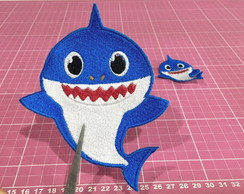 PATCH BORDADO BABY SHARK TERMOCOLANTE - GRANDE