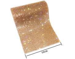 Manta Strass - OURO CRYSTAL 10 x 45