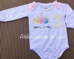 Body de Mesversario do Unicornio