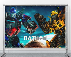 Painel Transformers Bumblebee Optimus Prime personalizado