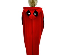 Fantasia de deadpool pijama kigurumi anti heroi adulto