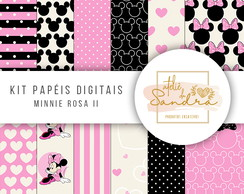 Kit Papel Digital Minnie Rosa 2