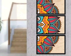 Quadro decorativo para interiores mandala vertical