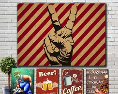 Placas decorativas-Bar-Cervejas-Retro-Vintage
