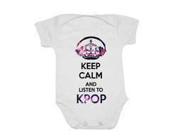 Body Infantil Keep calm and listen to Kpop! Bonito, Barato
