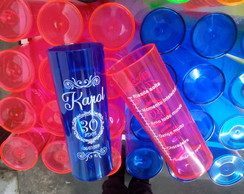 Kit 50 Copos Long Drink Personalizados